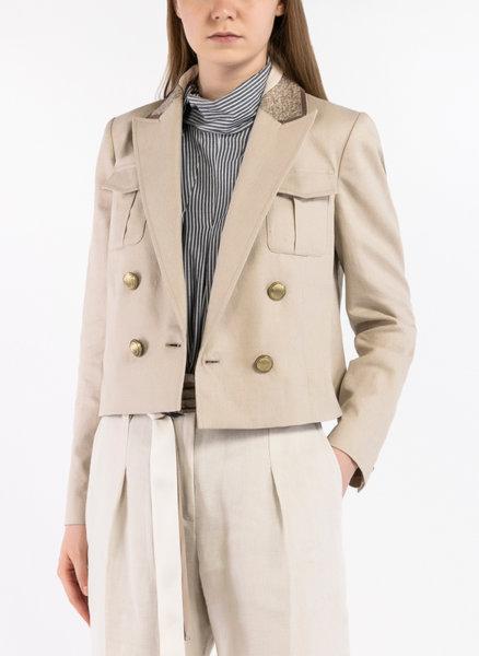 Късо сако с монили бродерия