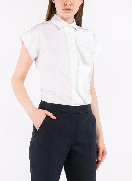 Риза от поплин с макси волан