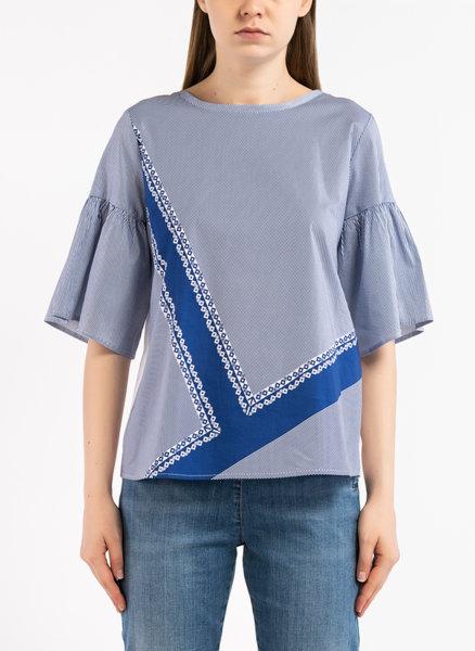 Блуза с Color Block дизайн