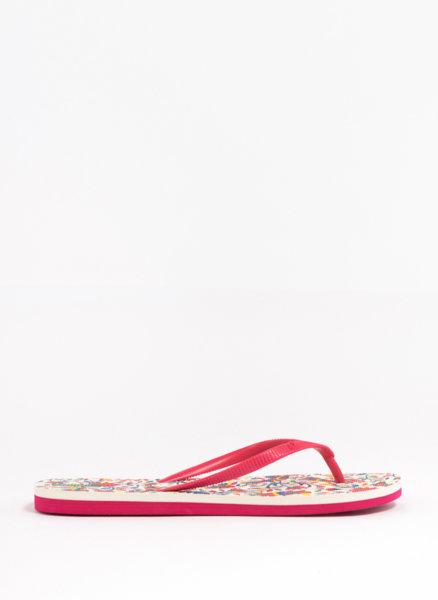 Плажни чехли с флорална подметка