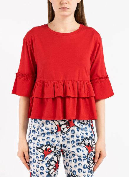 Блуза с волан и рюш