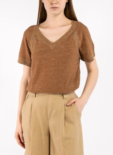 Блуза с V-образно деколте