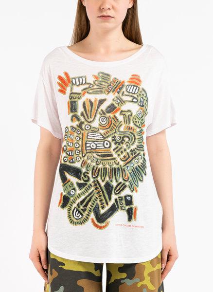 Ленена тениска с принт