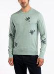 Пуловер с бродерия