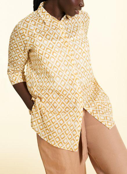 Риза с геометричен принт