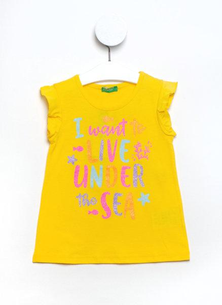 Тениска с мини рюш