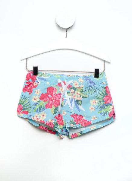 Къс панталон с флорален принт