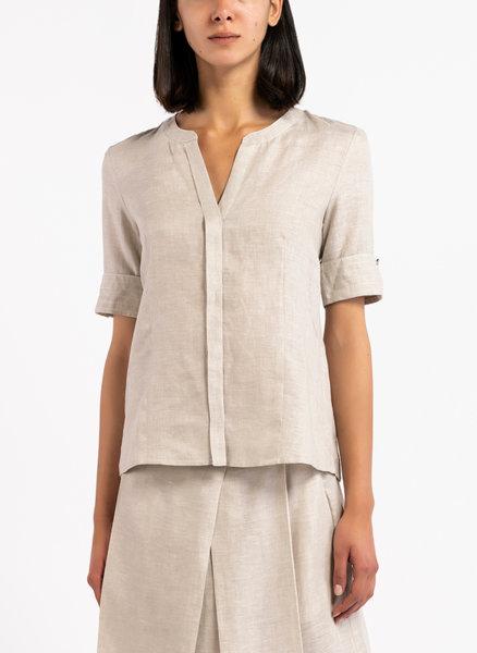 Ленена риза с къс ръкав