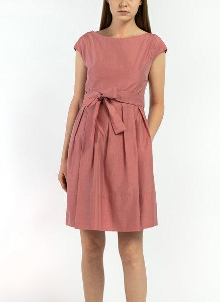Плисирана рокля от памук