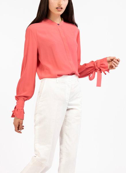 Копринена риза с панделка
