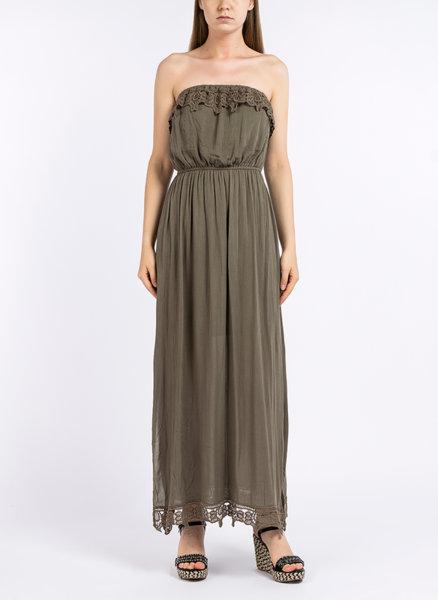 Дълга рокля от вискоза