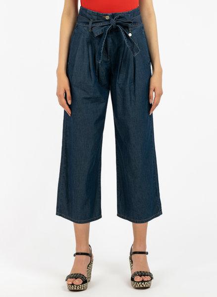 Разкроен панталон с деним ефект