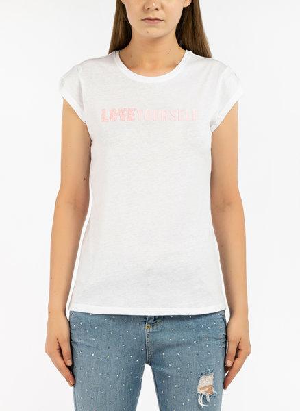 Тениска с Glitter слоган