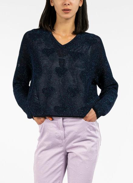 Oversize блуза с мрежа