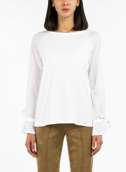 Памучна блуза с панделки