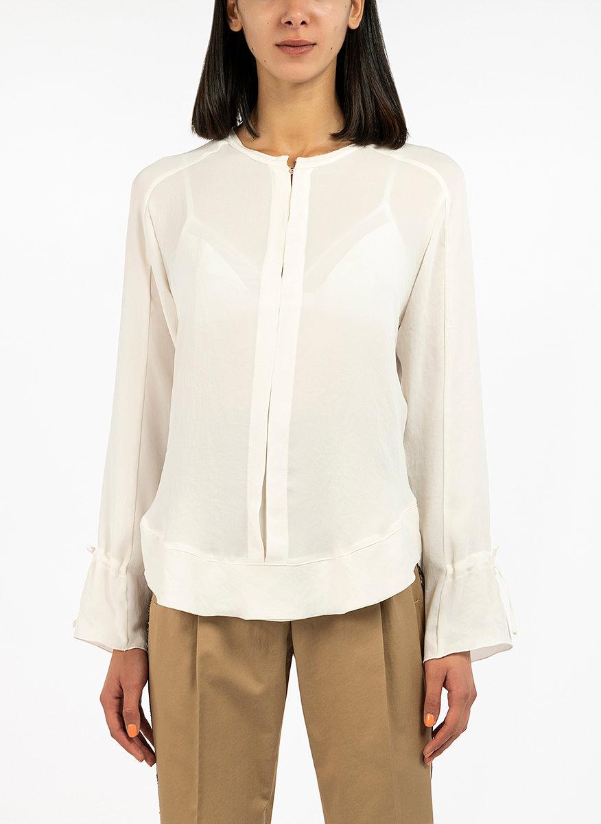 Памучна блуза с панделки-Copy