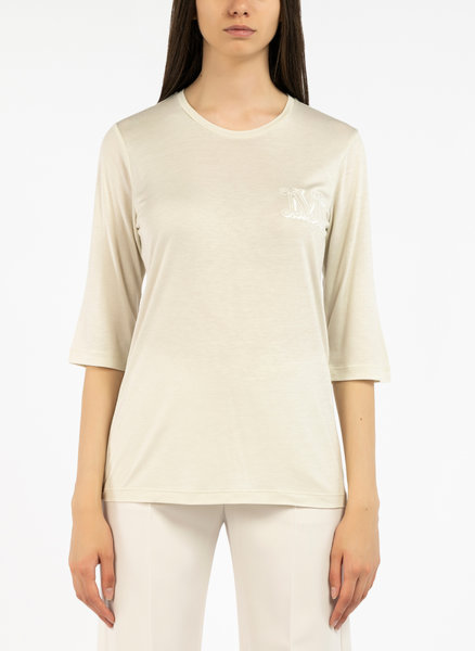 Блуза от сатенена материя