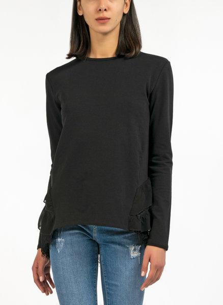 Блуза с асиметрични волани