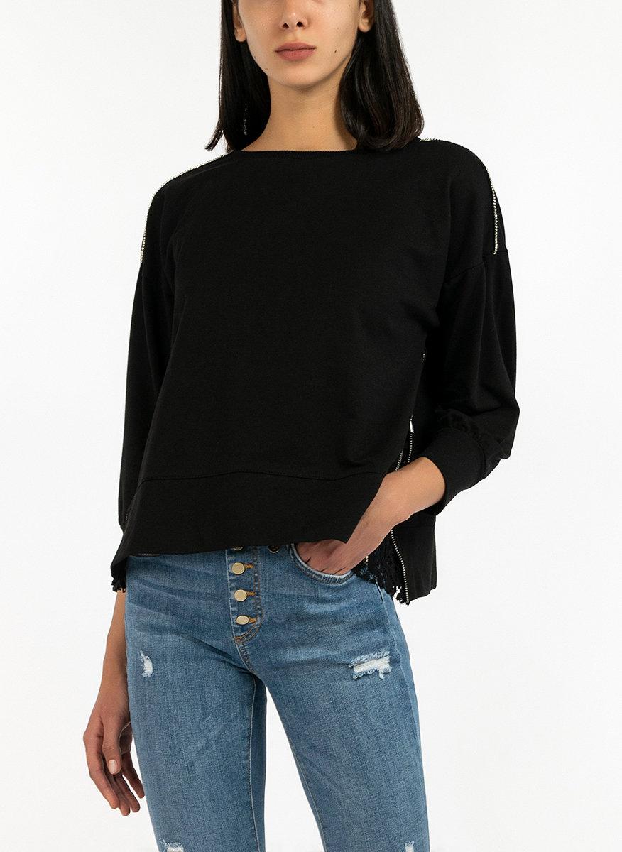 Блуза с асиметрични волани-Copy
