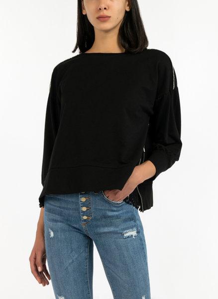 Блуза с ципове