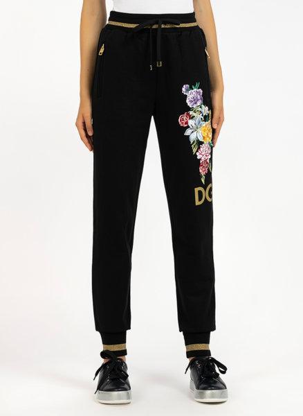 Спортен панталон с флорална бродерия
