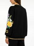 Спортна блуза с флорална бродерия