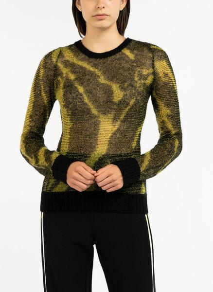 Пуловер с мохер