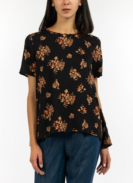 Асиметрична блуза с принт
