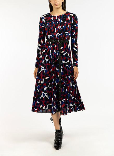 Разкроена рокля в многоцветен десен Marella Lemma