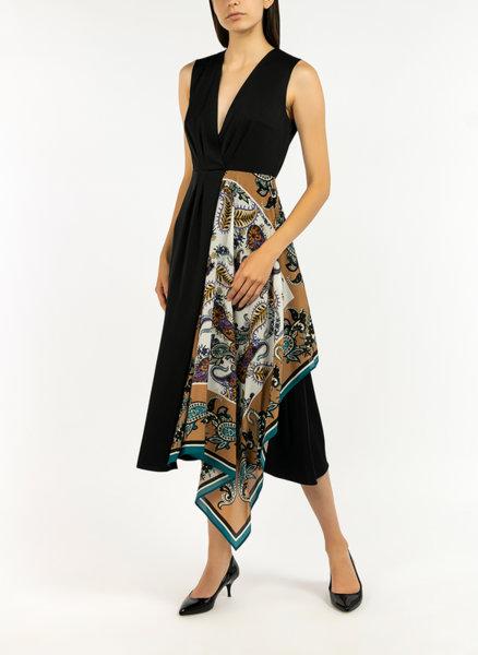 Сатенена рокля с цветен детайл Marella Gennaio