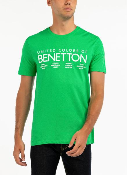 Тениска с лого Benetton
