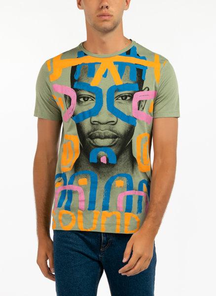 Тениска с фото принт Benetton
