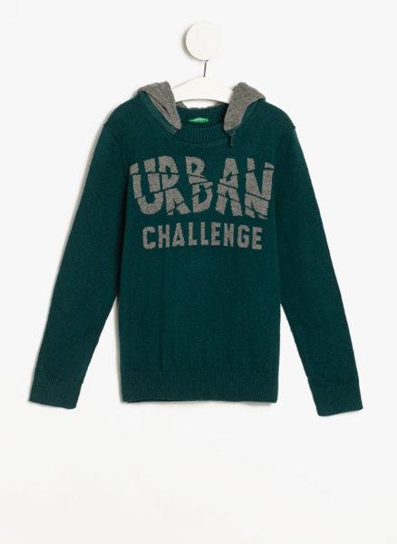 Пуловер с качулка Benetton