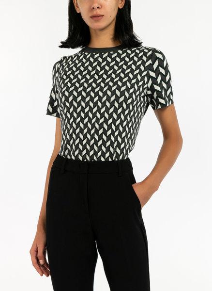 Жакардова блуза с ламе Weekend Max Mara Faenza