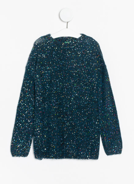 Пуловер с пайети Benetton