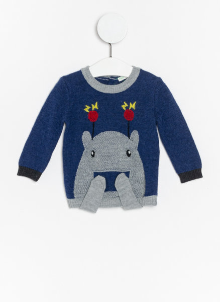 Пуловер с апликация Benetton