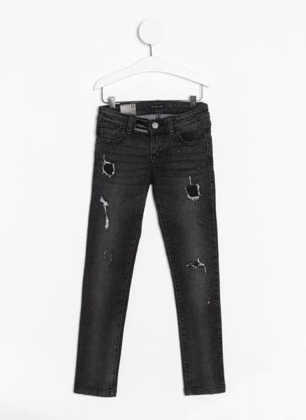 Вталени дънки с износен ефект Sisley Young