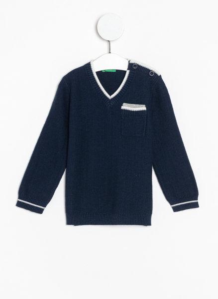 Пуловер с джоб Benetton