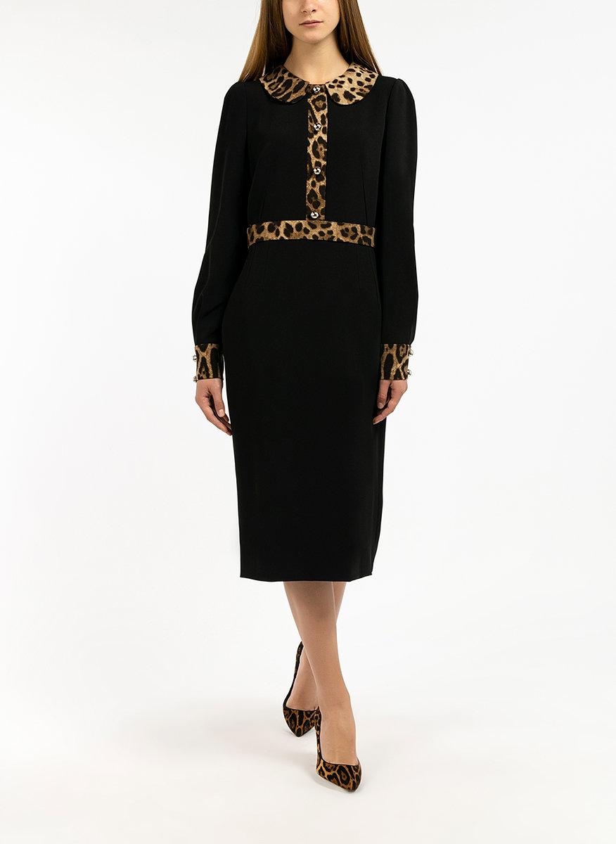 Рокля с леопардов принт Dolce&Gabbana