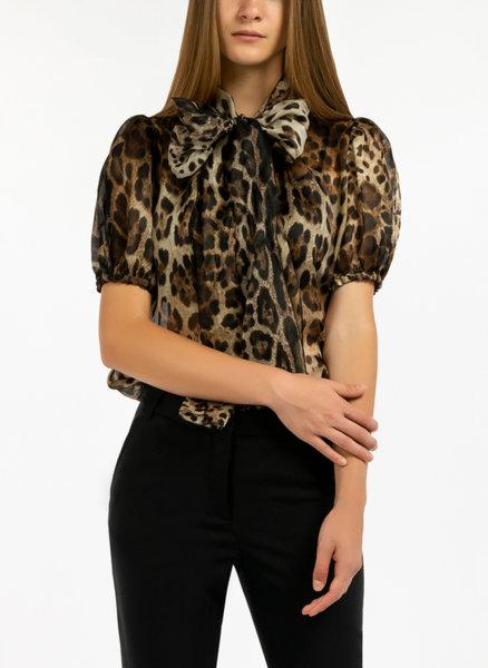 Блуза с леопардов десен Dolce&Gabbana