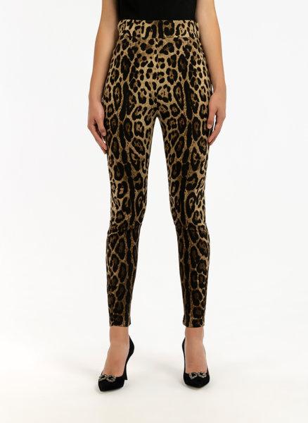 Панталон с леопардов десен Dolce&Gabbana