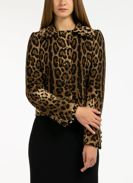 Яке с леопардов десен Dolce&Gabbana