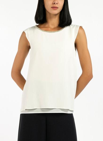 Блуза с бродерия от декоративни перли  Pennyblack Egadi