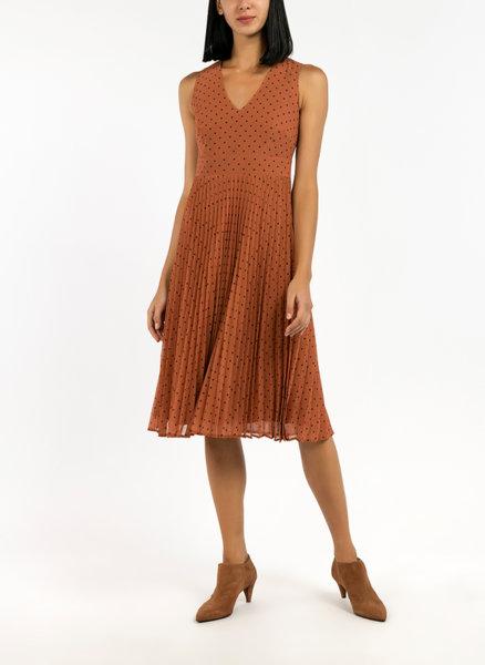 Плисирана миди рокля Pennyblack Megafono