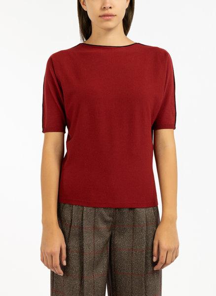 Блуза с къс ръкав Max Mara Studio Angolo