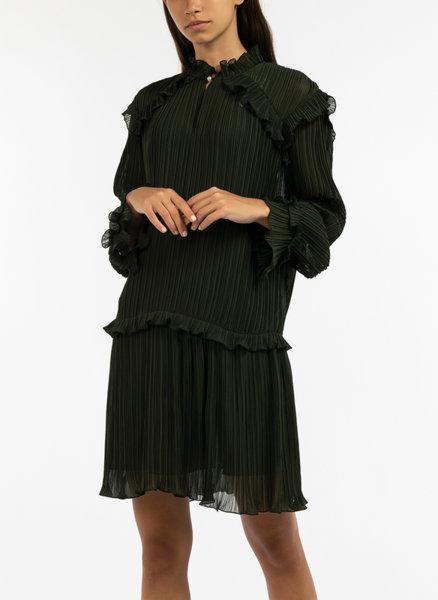 Плисирана рокля с волани Kenzo