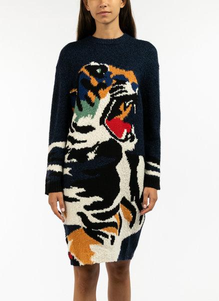 Плетена рокля Tiger Head Kenzo