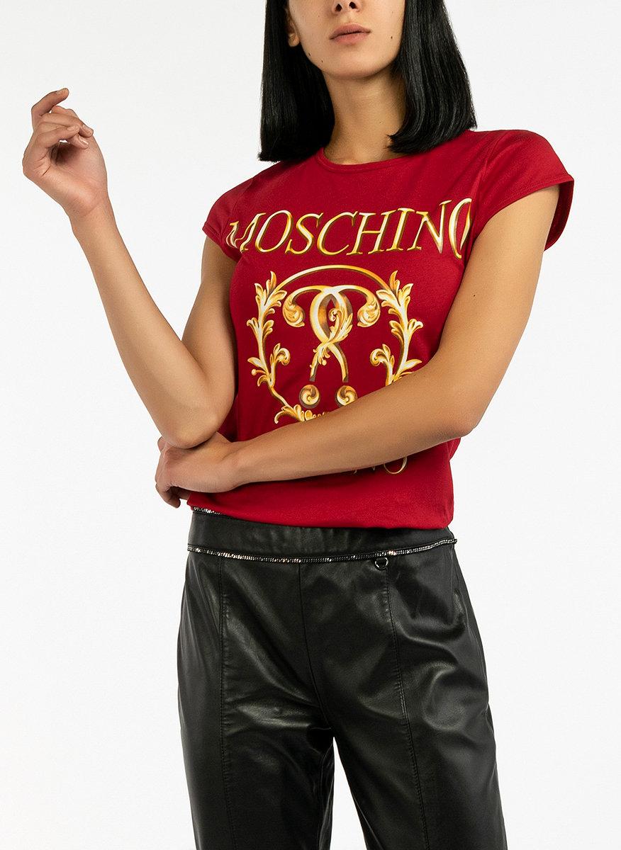 Тишърт с бродерии Moschino-Copy