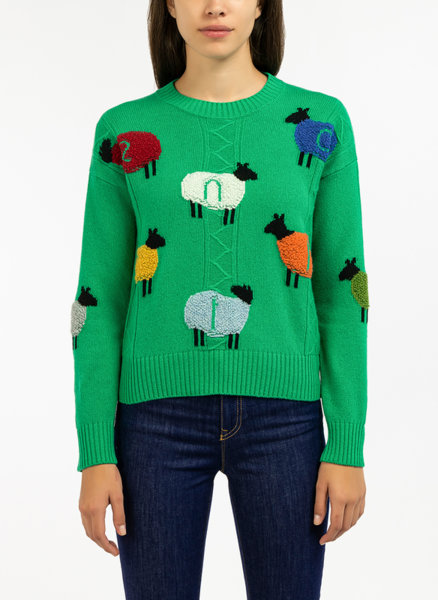Пуловер с анималистичен десен Benetton