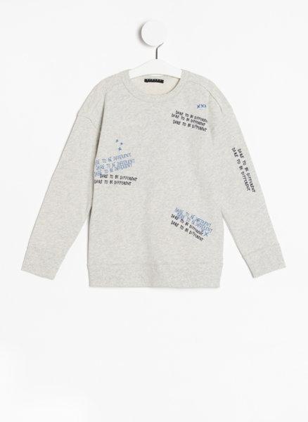 Пуловер с принт Sisley Young
